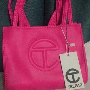 Telfar Small Rose Red Shopping Bag